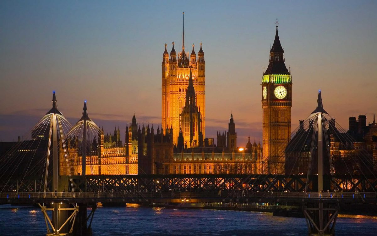 View of Big Ben and the House of Parliament, From the Waterloo Bridge, London, England