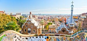 Barcelona vista do parc guell