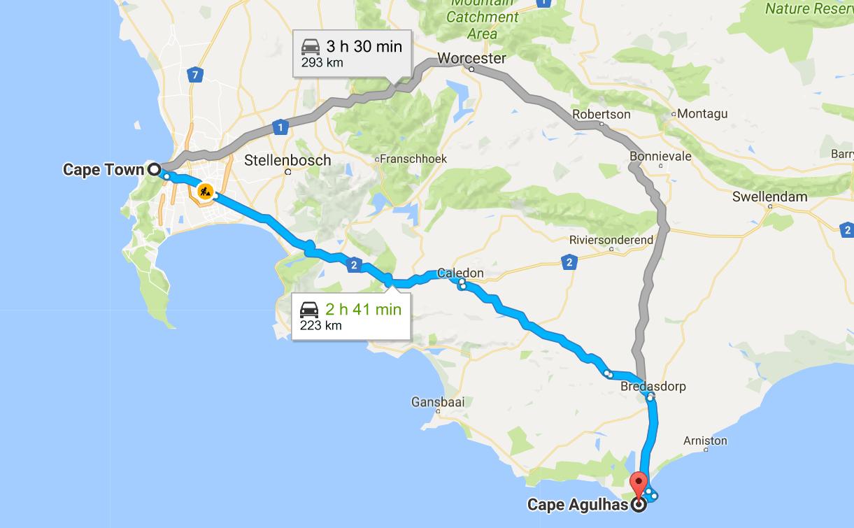 mapa_cape_town_para_cape_agulhas