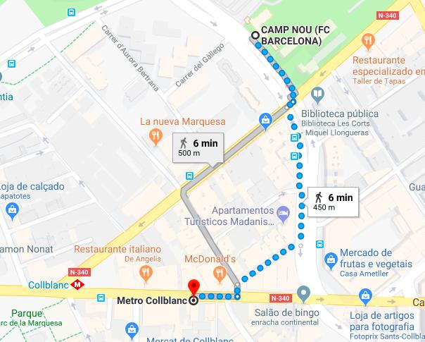 camp nou metro