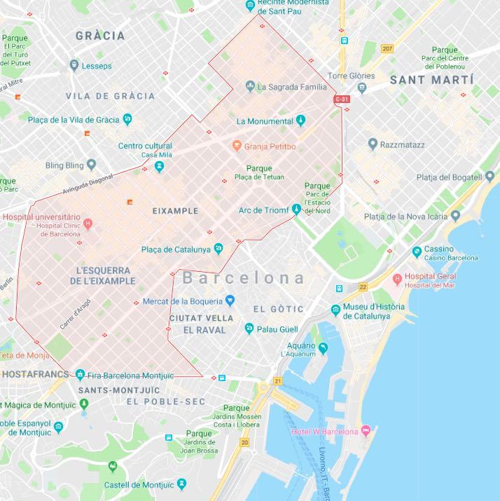 Onde se ficar em Barcelona_Eixample