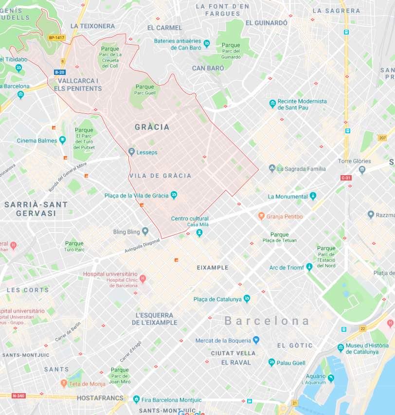 Onde se ficar em Barcelona_Grácia
