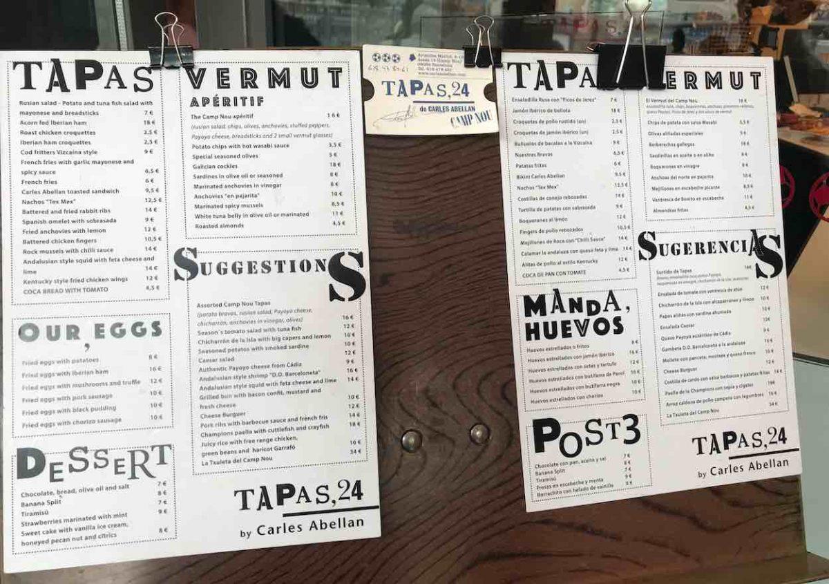 Onde comer tapas em Barcelona Tapas 24