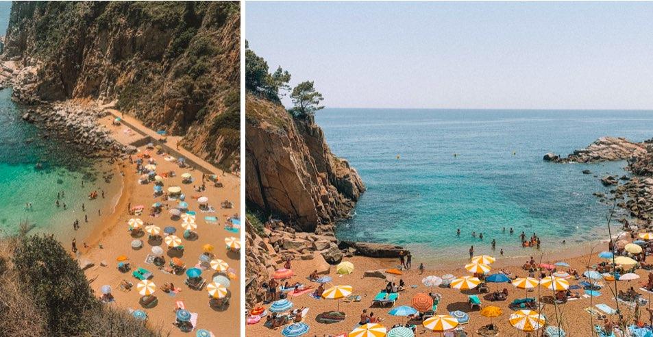 Praias-perto-de-Barcelona-tossa-de-mar-cala-es-codolar