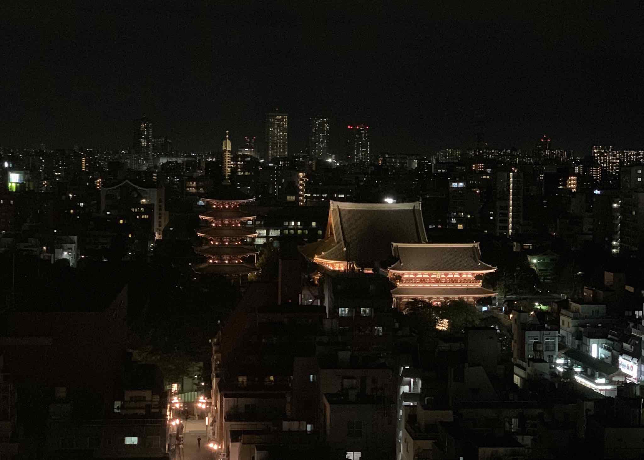 Melhor_Hotel_em_Tóquio_Asakusa_TheGate_VistaNoturna